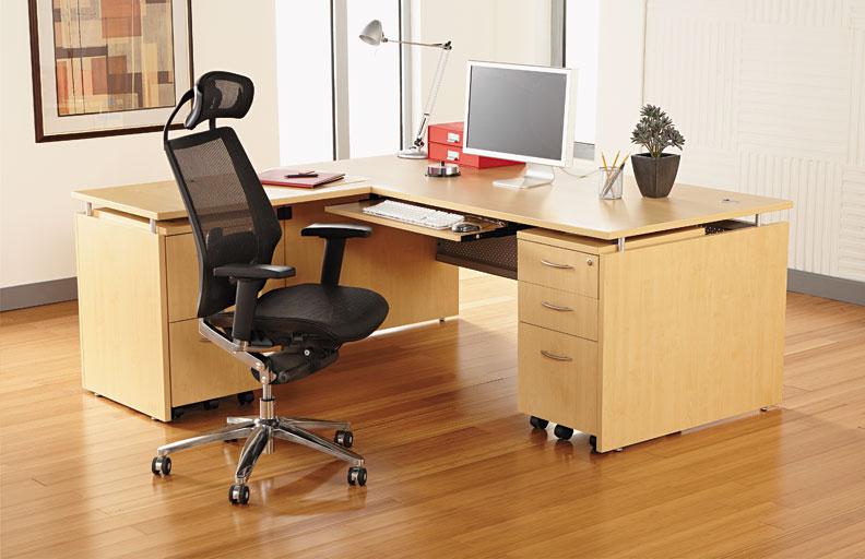 5pc l shaped modern contemporary executive office desk set al sed l3