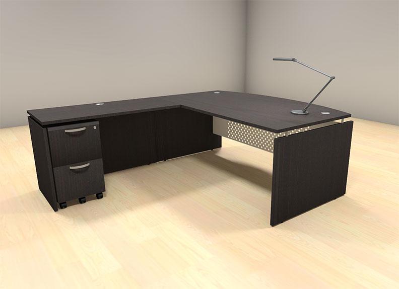 3pc l shaped modern contemporary executive office desk set al sed l5