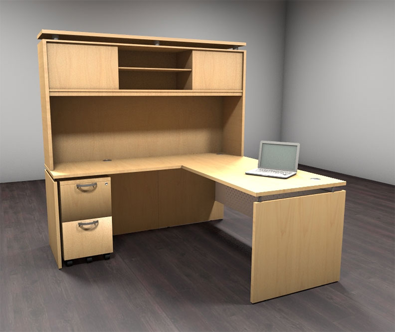 4pc l shaped modern contemporary executive office desk set al sed l6