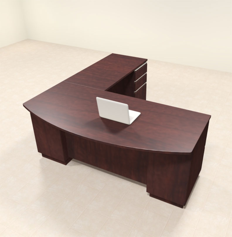 4pc modern contemporary l shaped executive office desk set bh mil l2