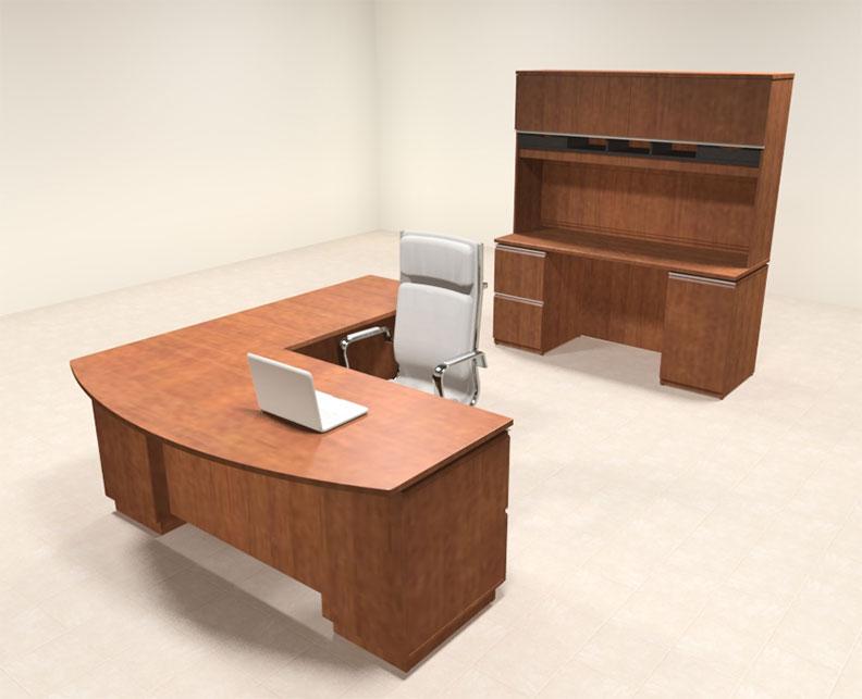 2pc modern contemporary l shaped executive office desk set bh mil l5