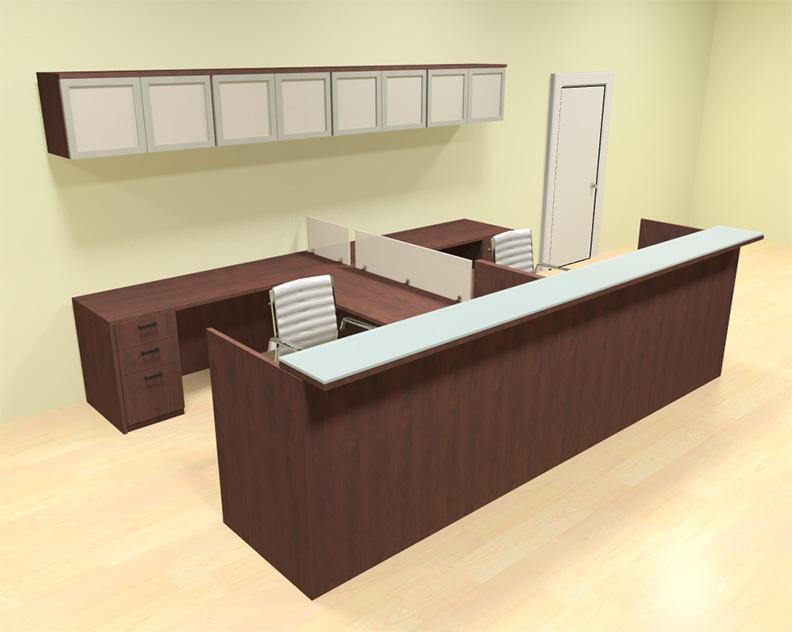 12pc 12 39 feet u shaped glass counter reception desk set ch amb r21 ebay - Reception desk ebay ...