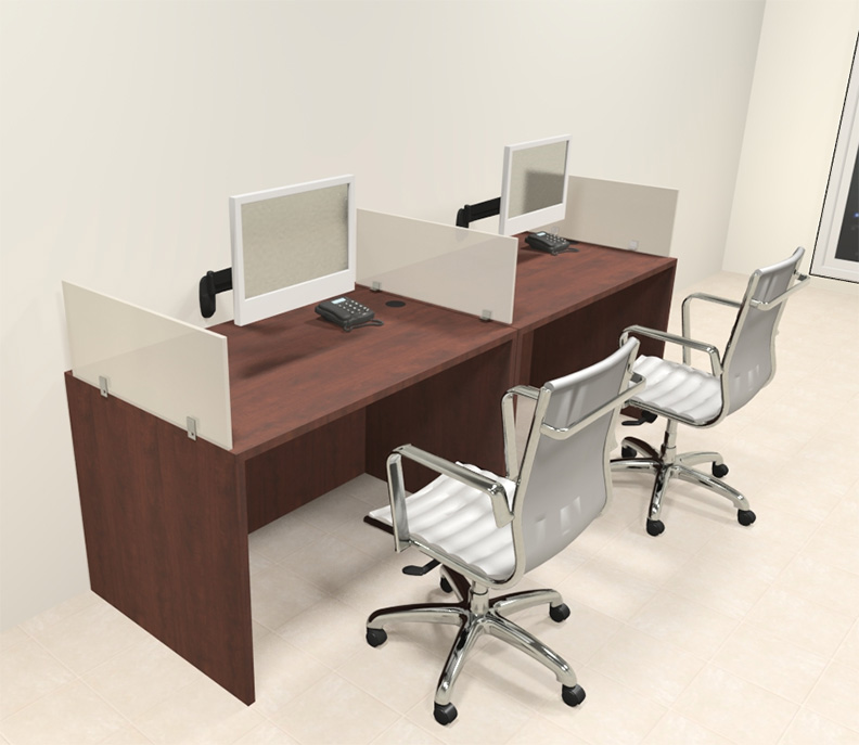 Two person modern divider office workstation desk set ch amb sp61 - Two person office desk ...