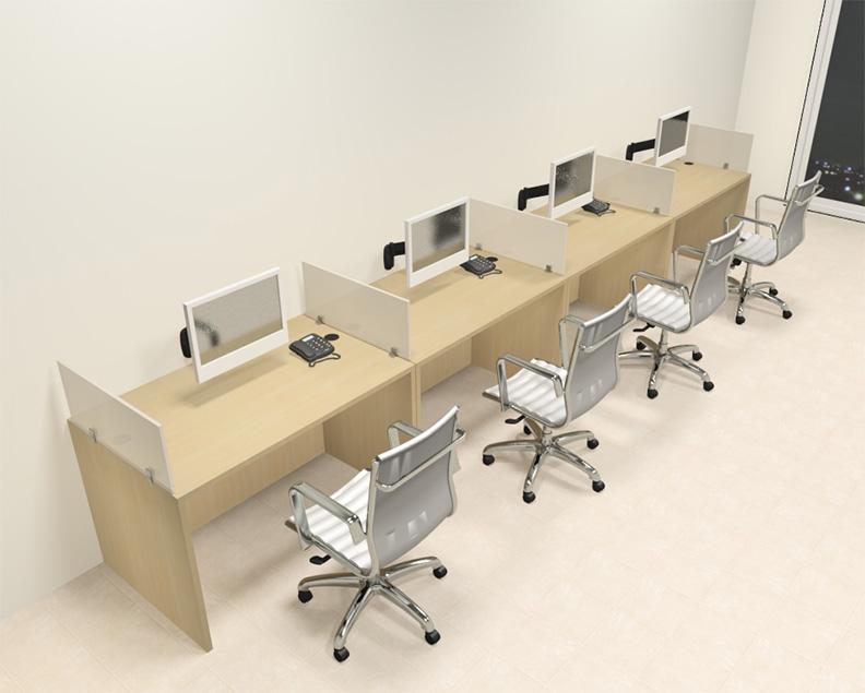 Four Person Modern Divider Office Workstation Desk Set