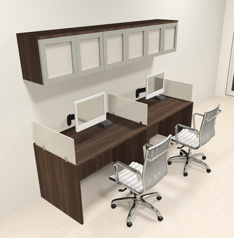 Two person modern divider office workstation desk set ch Desk for two persons