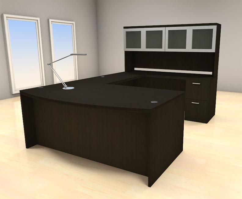 5pc u shape modern executive office desk set ch amb u68 ebay. Black Bedroom Furniture Sets. Home Design Ideas