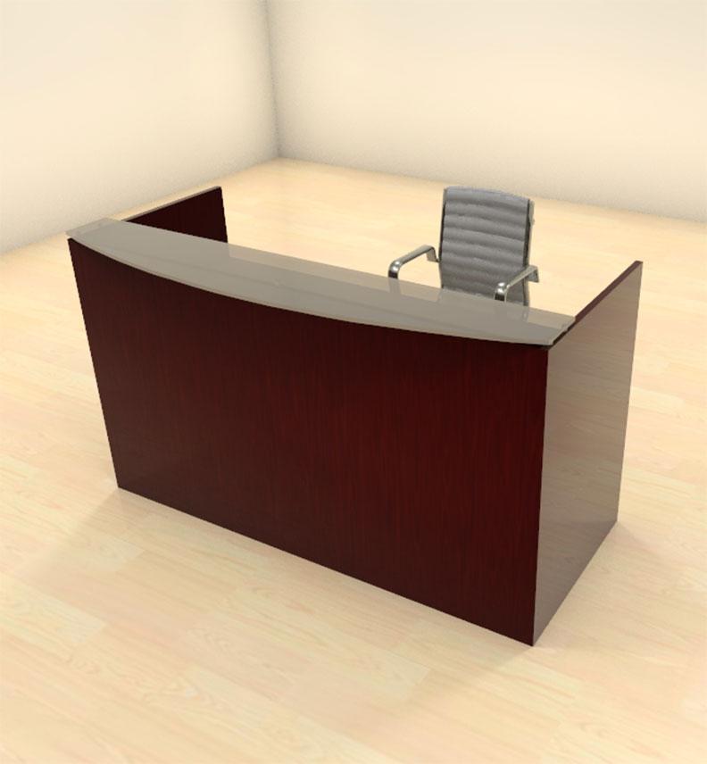 2pc modern glass counter reception desk set ch jad r2 ebay - Reception desk ebay ...