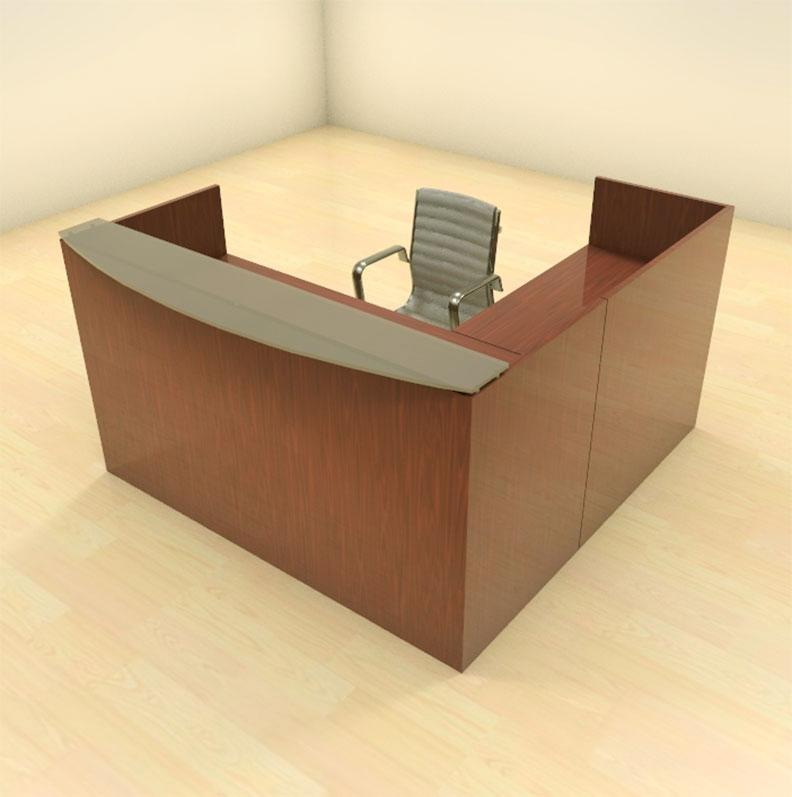 3pc l shape modern glass counter reception desk set ch jad r3 ebay - Reception desk ebay ...