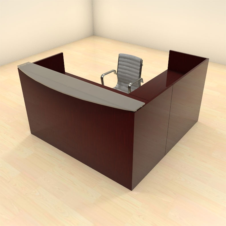 3pc l shape modern glass counter reception desk set ch - Reception desk ebay ...
