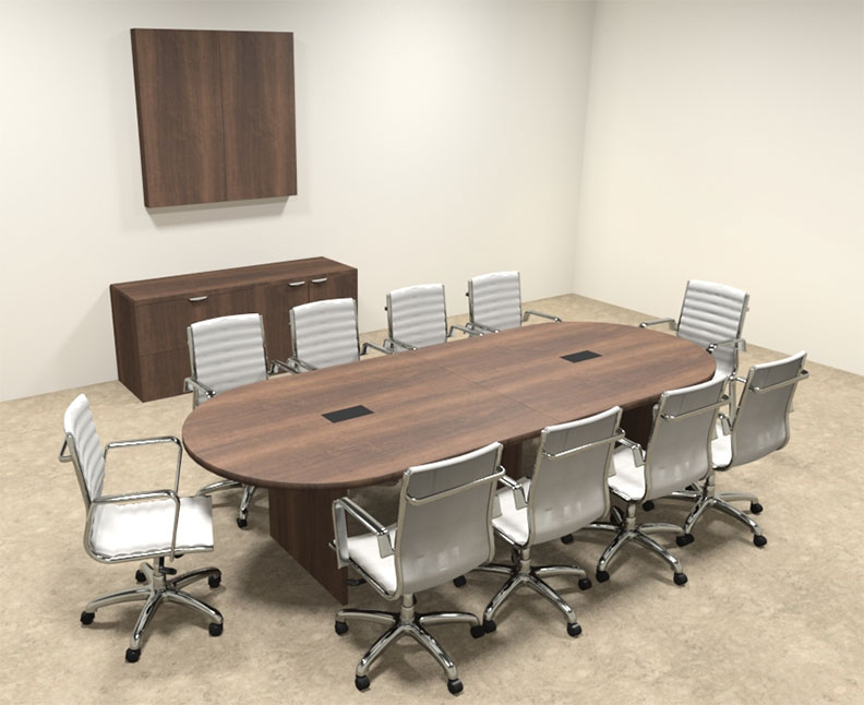 Modern racetrack 10 39 feet conference table of con c4 for 10 foot conference table