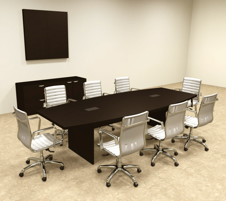 Modern boat shapedd 10 39 feet conference table of con c60 for 10 foot conference table