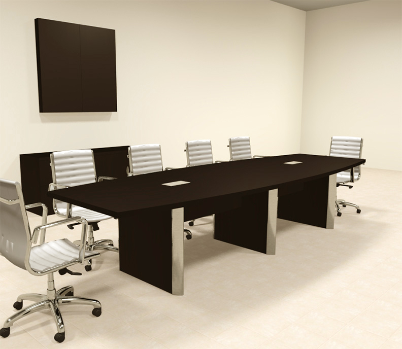 Modern boat shaped 12 39 feet conference table of con cp10 for 12 conference table