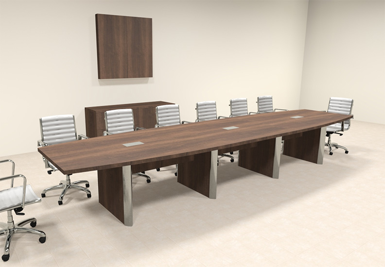 Details about Modern Boat Shaped 16' Feet Conference Table, #OF-CON