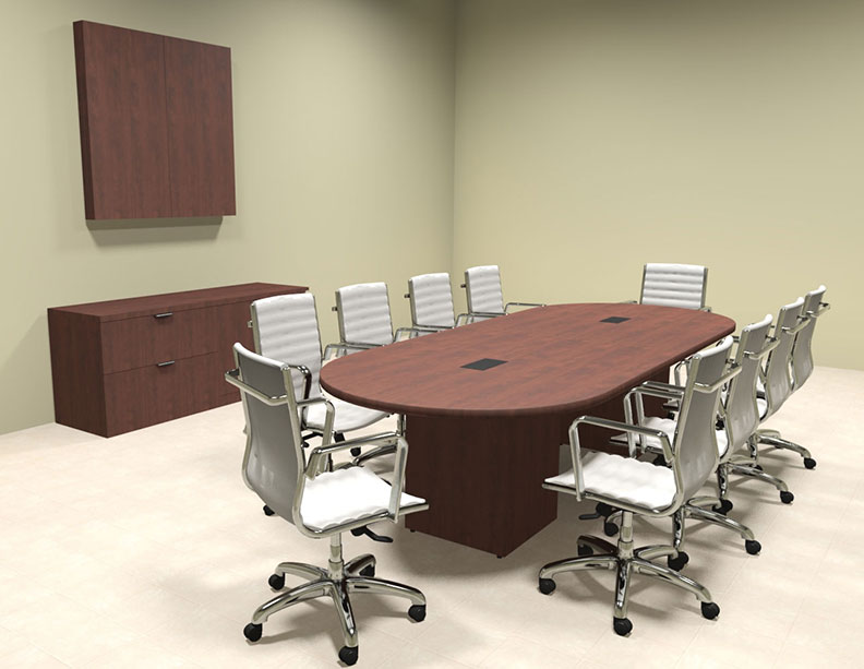 Modern racetrack cube leg 10 39 feet conference table of for 10 foot conference table