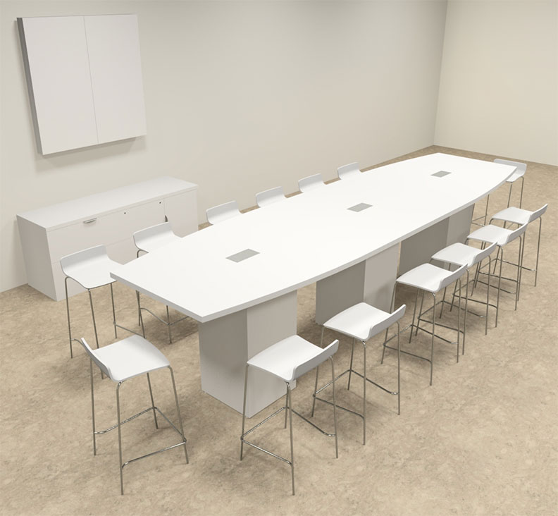 Boat Shape Counter Height 14 Feet Conference Table, #OF-CON-CT13 ...