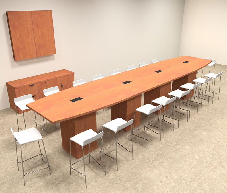 Boat Shape Counter Height 18 Feet Conference Table, #OF-CON-CT26 ...