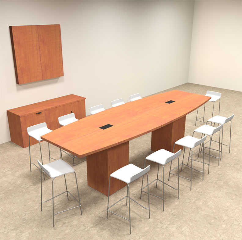Boat Shape Counter Height 12 Feet Conference Table, #OF-CON-CT8 ...