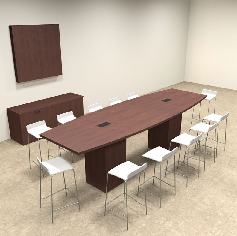 Boat Shape Counter Height 12 Feet Conference Table, #OF-CON-CT9 ...