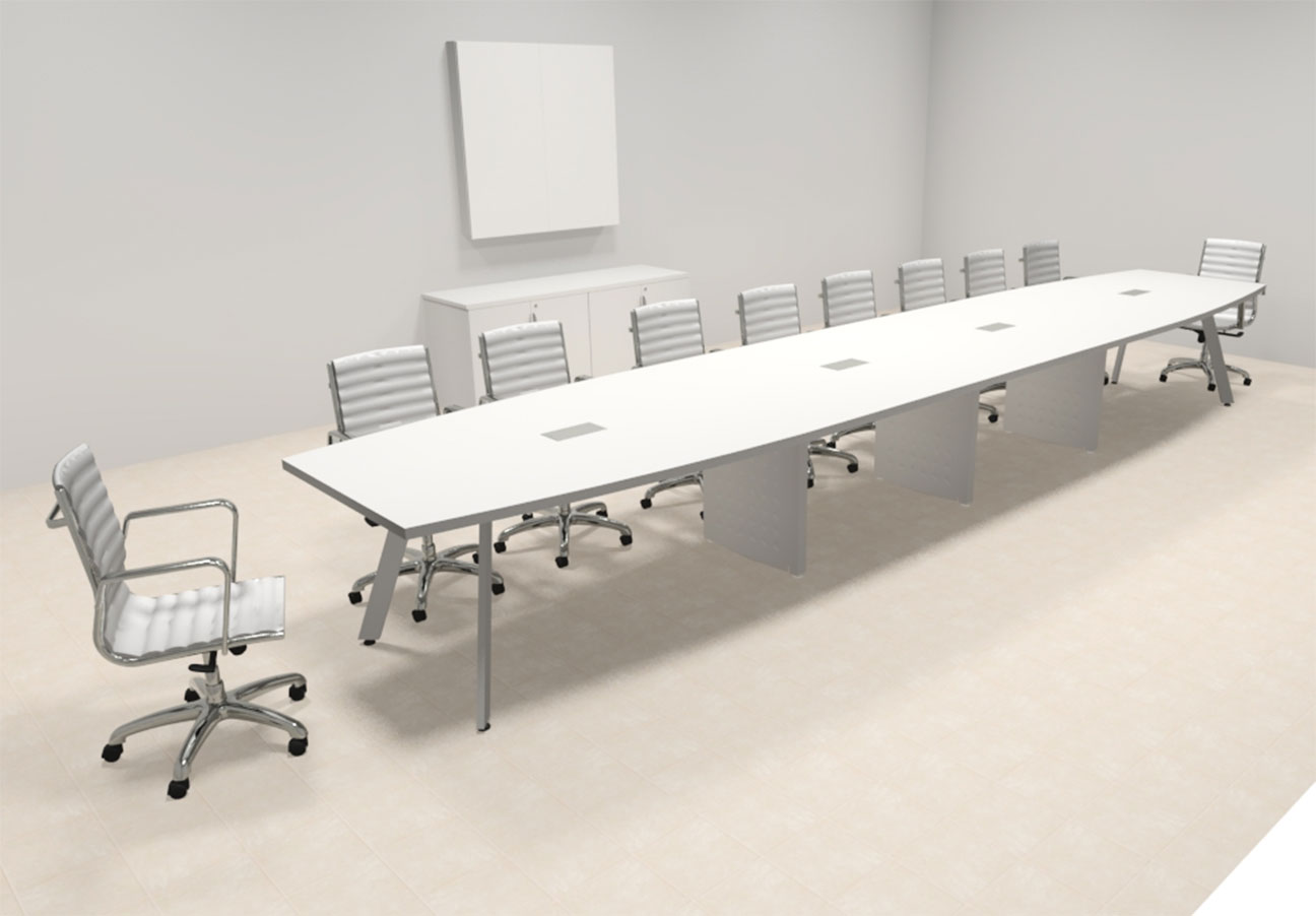 Modern Boat Shaped Feet Conference Table OFCONCV EBay - 20 foot conference table