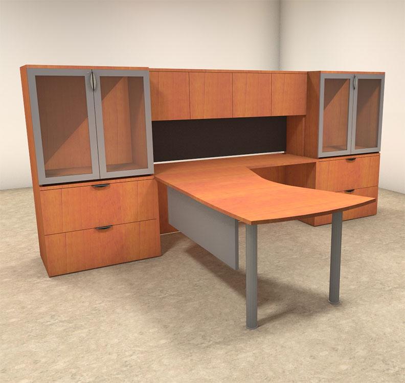 5pc l shaped modern contemporary executive office desk set
