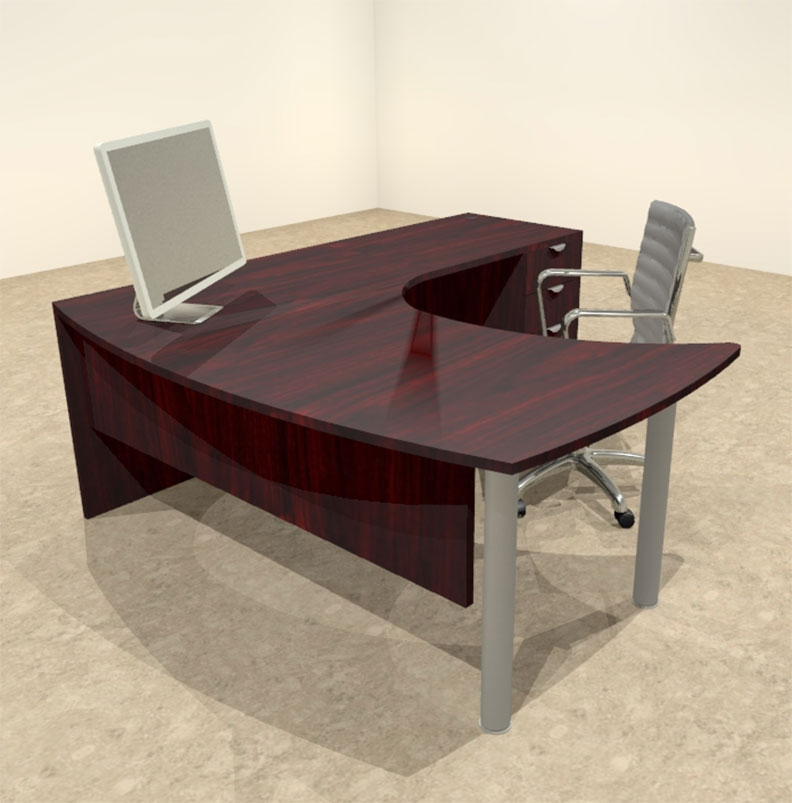 3pc l shaped modern contemporary executive office desk set of con l13