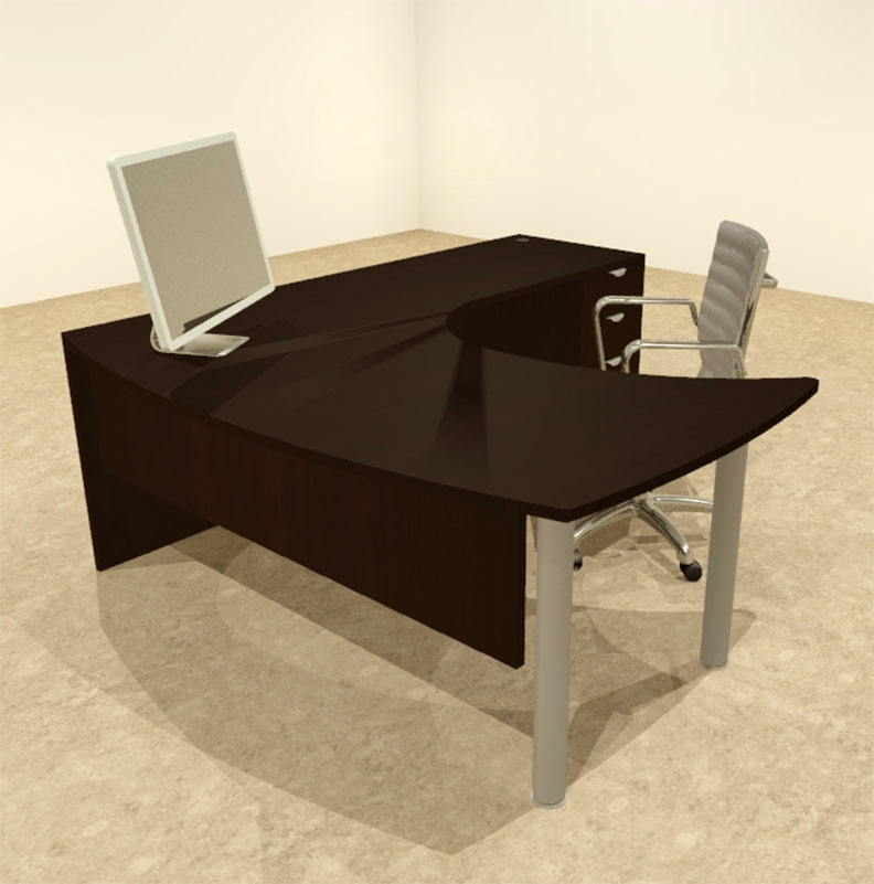 3pc l shaped modern contemporary executive office desk set of con l15 ebay. Black Bedroom Furniture Sets. Home Design Ideas