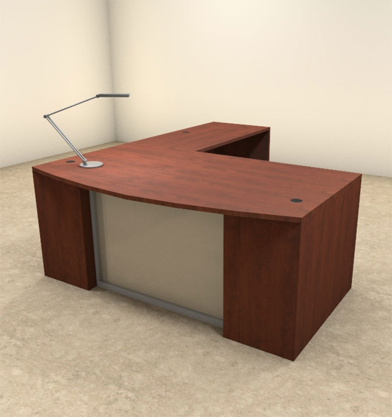 3pc L Shaped Modern Contemporary Executive Office Desk Set