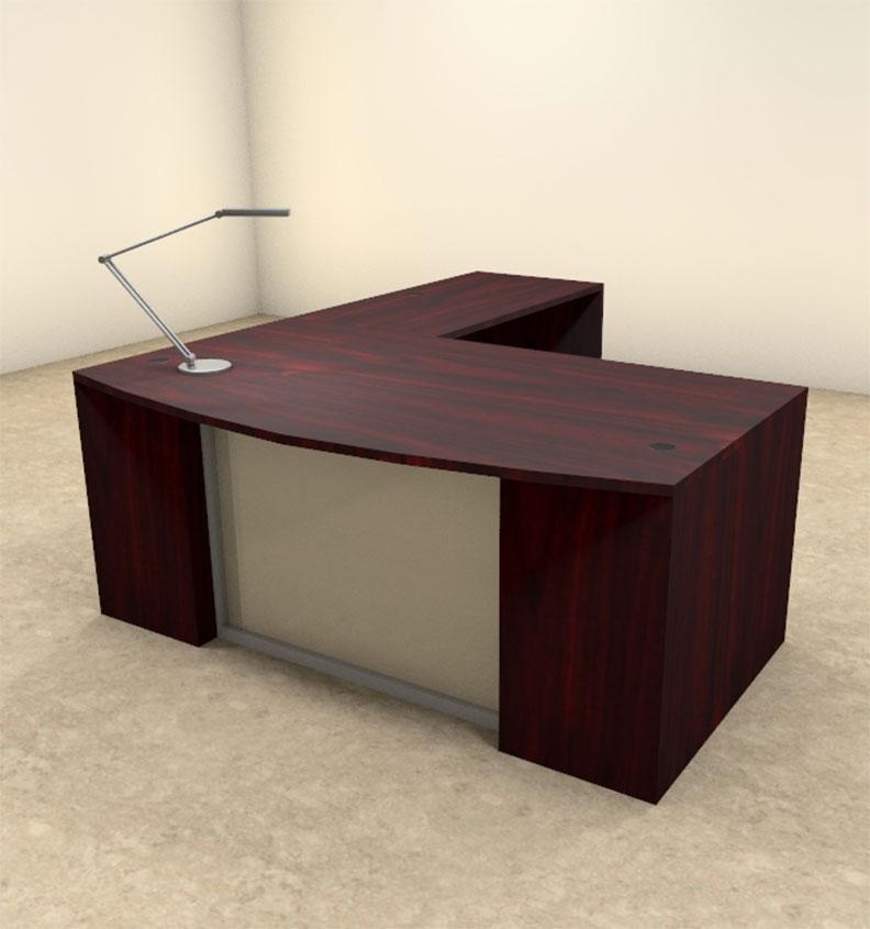 3pc L Shaped Modern Contemporary Executive fice Desk Set