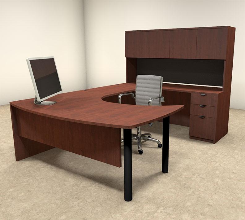 5pc u shaped modern contemporary executive office desk set of con u22 h2o furniture