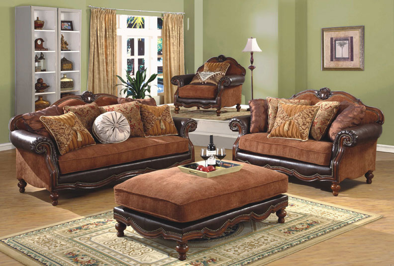 3pc Traditional Classic Fabric Sofa Set MH 011 S1 EBay