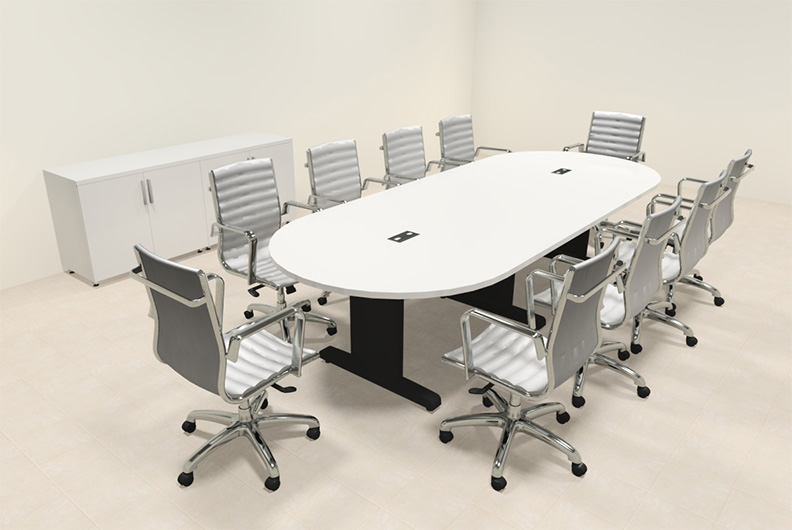Modern racetrack 10 39 feet conference table mt csd c85 for 10 foot conference table