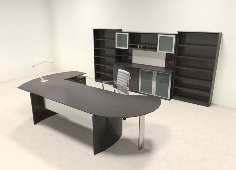 7pc modern contemporary l shaped executive office desk set mt med