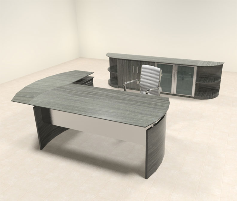 5pc modern contemporary l shaped executive office desk set mt med