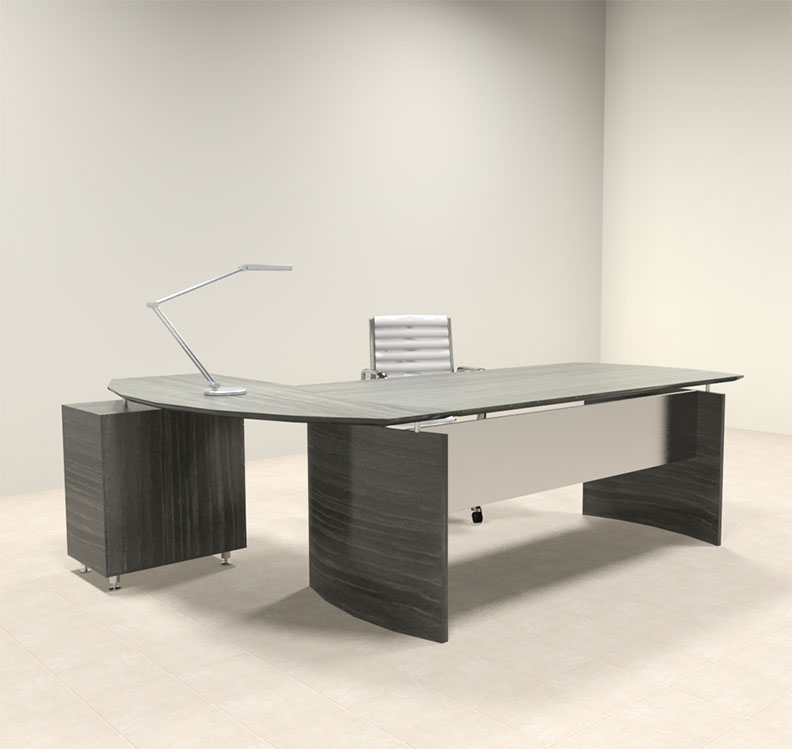 2pc modern contemporary l shaped executive office desk set mt med o4