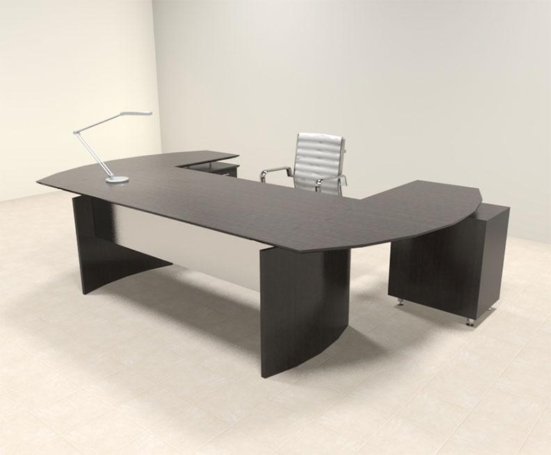 3pc modern contemporary u shaped executive office desk set mt med o9 ebay. Black Bedroom Furniture Sets. Home Design Ideas