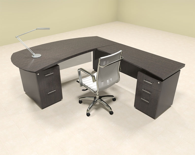 4pc Modern Contemporary L Shaped Executive Office Desk Set, #MT ...