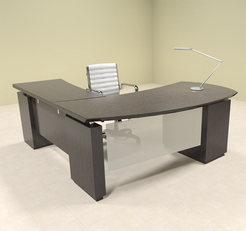 4pc modern contemporary l shaped executive office desk set mt ste l3