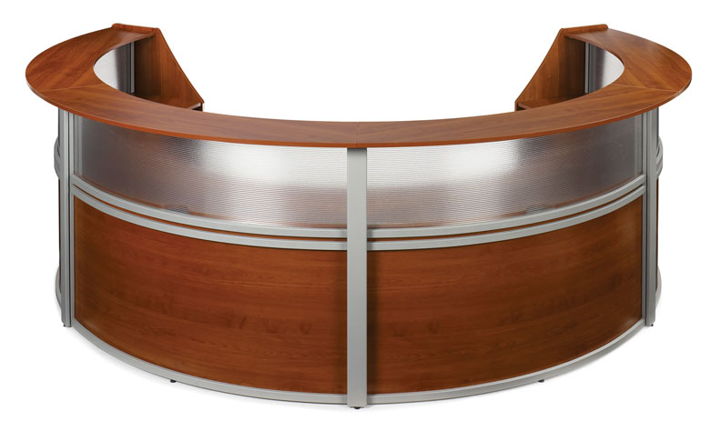 1pc oval round modern contemporary office reception desk, #of-map