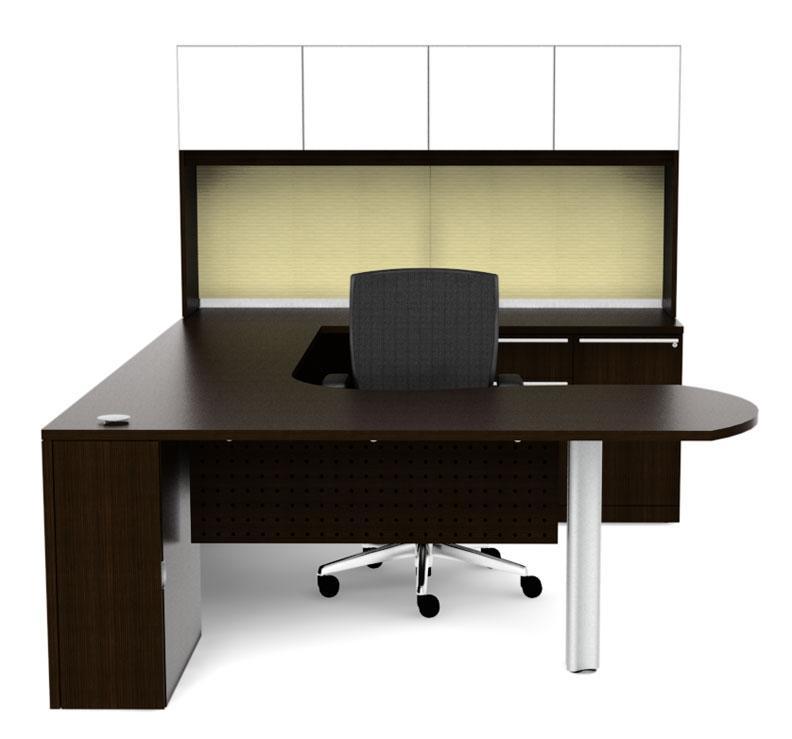 5pc u glass modern executive office desk ch ver u5