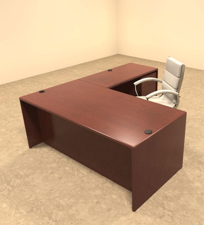 3pc l shaped modern contemporary executive office desk set ot mar l3