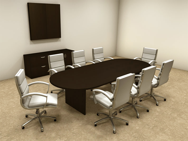 Modern racetrack 10 39 feet conference table ot sul c12 for 10 foot conference table