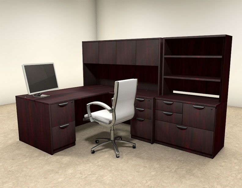 7pc l shaped modern executive office desk ot sul l15 h2o furniture