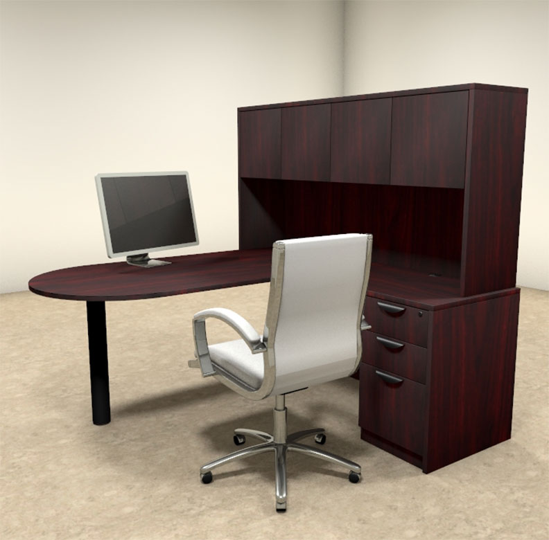 4pc L Shaped Modern Executive Office Desk Ot Sul L23 Ebay