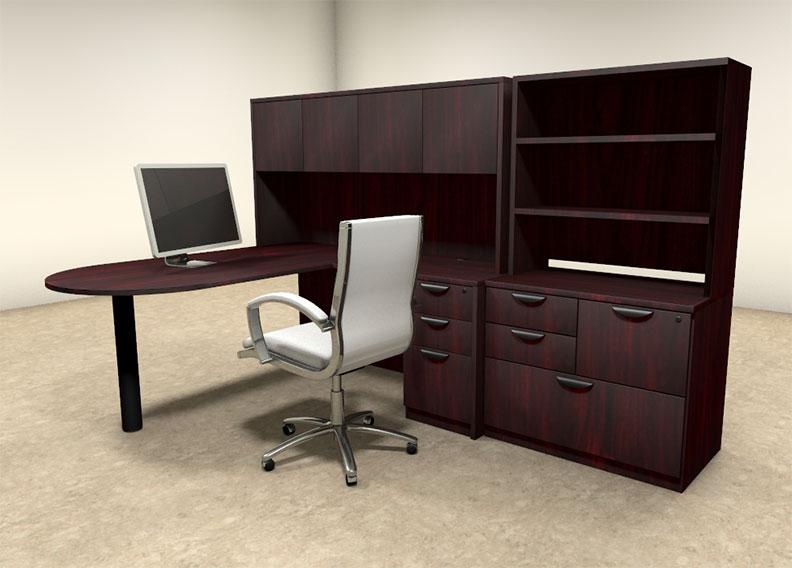 6pc l shaped modern executive office desk ot sul l27 h2o furniture