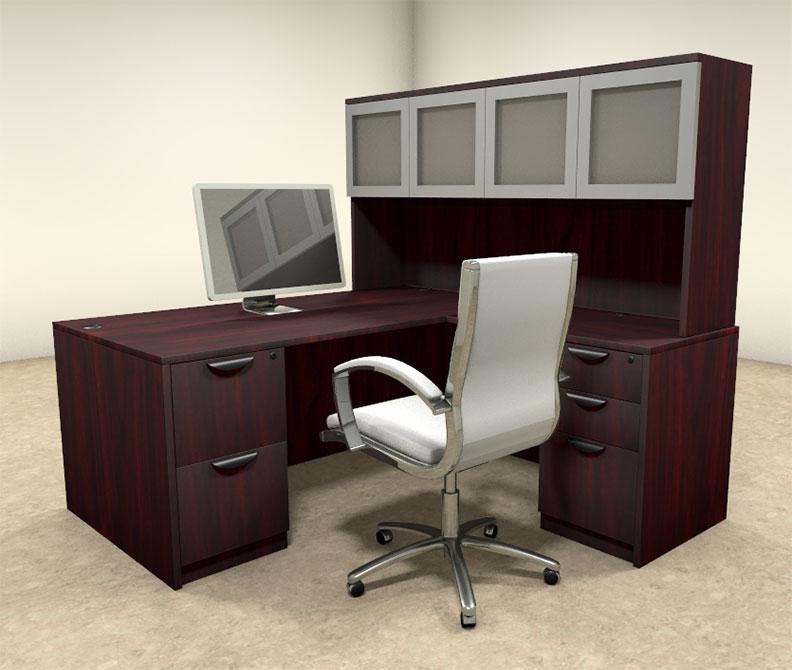 5pc l shaped modern executive office desk ot sul l31 ebay