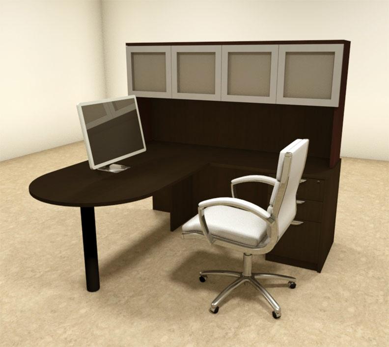details about 4pc l shaped modern executive office desk ot sul l44