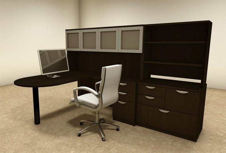 details about 6pc l shaped modern executive office desk ot sul l48