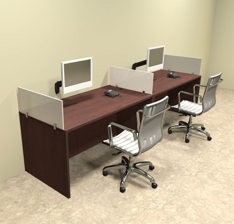 Two person divider modern office workstation desk set ot Desk for two persons