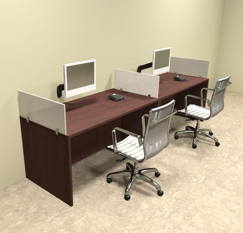 Two Person Divider Modern Office Workstation Desk Set Ot