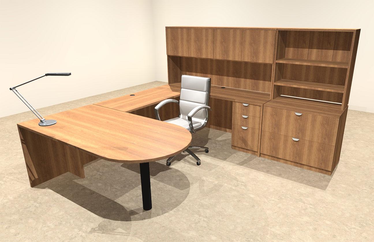 7pc u shaped modern executive office desk ot sul u21 ebay. Black Bedroom Furniture Sets. Home Design Ideas